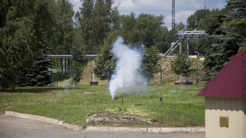 Сработка демонстрационного макета сигнальной мины