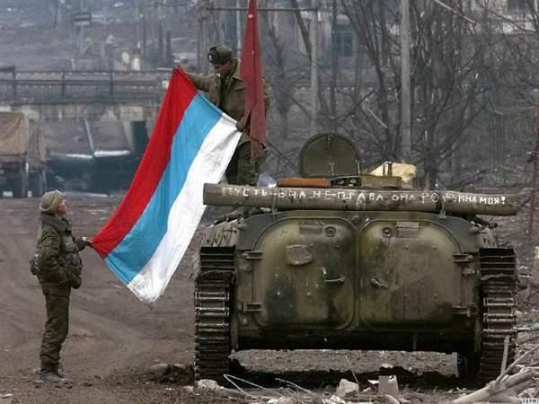 Российские военнослужащие в Чечне