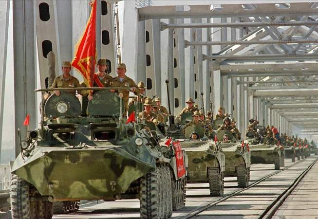 Советские военные покидают Афганистан