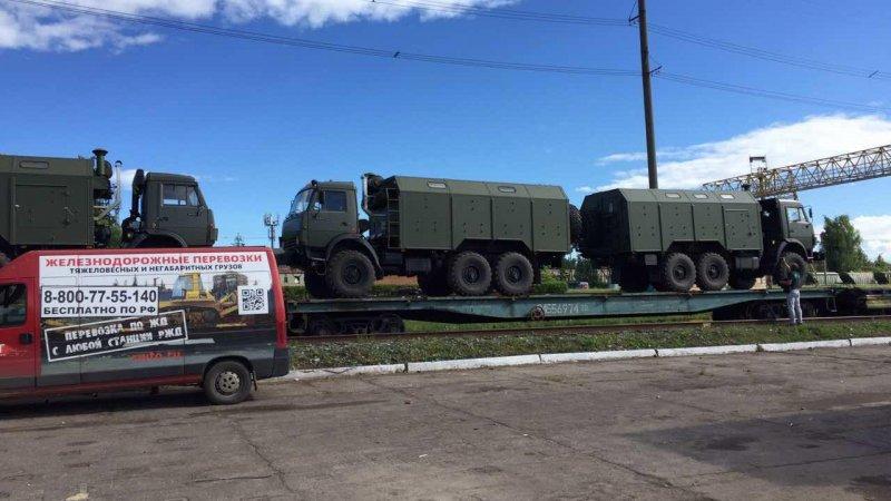 Перевозка военных автофургонов