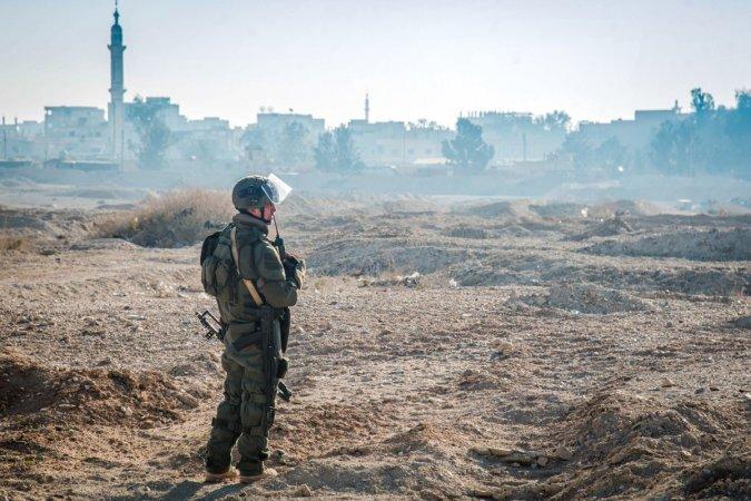 Российские саперы в сирийской Пальмире